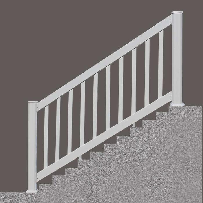 """6""""White Classic Vinyl Stair Rail"""
