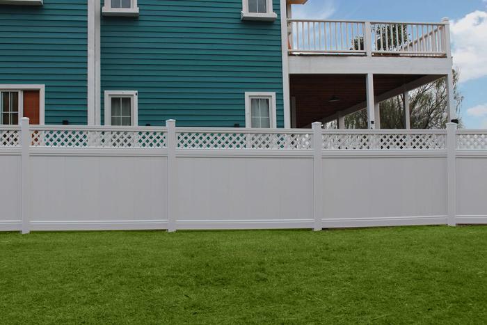 White Lattice Privacy Fence Panel Kit