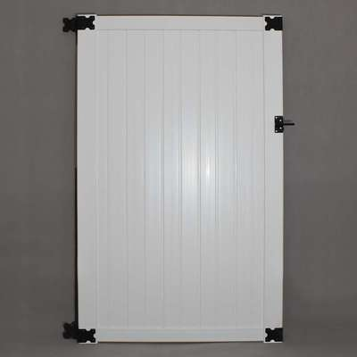 "6""White Belmont Privacy Gate with Hardware"