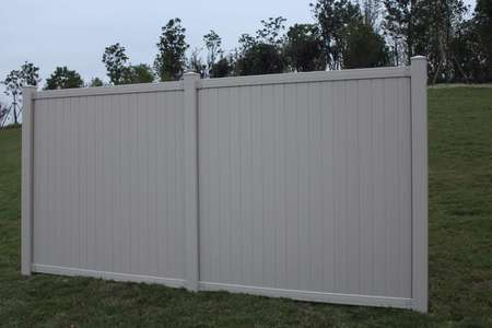 Tan Belmont Privacy Vinyl Fence Panel