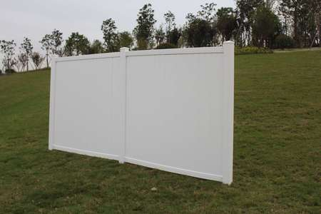 White Belmont Privacy Vinyl Fence Panel