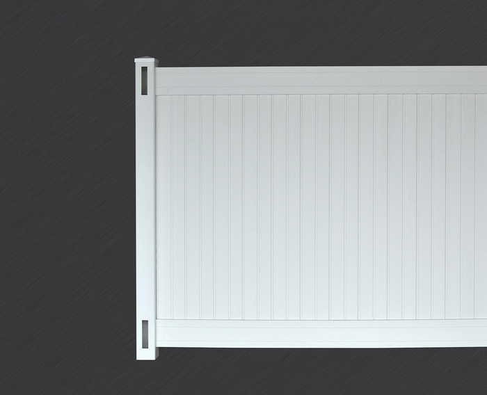 White Richmond Privacy Fence Panel Kit